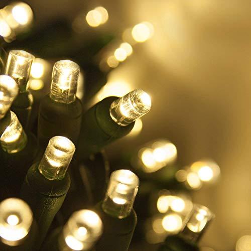 50 5mm LED Warm White Christmas Lights, 6