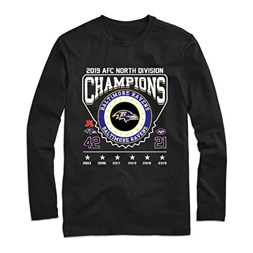2019 Afc North Division Champions B-B-A-L-T-I-M-O-R-E-R-A-V-E-N-S-S Championship Long Sleeve Tee Shirt