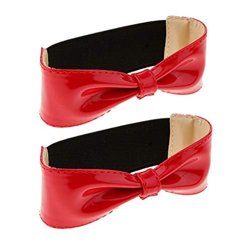 Baoblaze Glänzendes Abnehmbares Bowknot-Schuhband Für Hochhackige Schuhe Wedges - rot, M