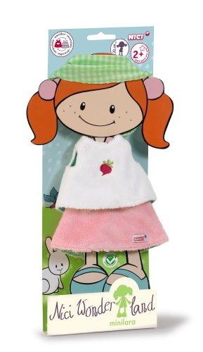 Nici 35502 - Wonderland 3 Minilara Set Shirt, Rock und Haarband für Puppe 30 cm