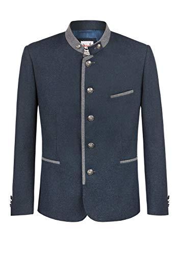 Stockerpoint Herren Quintus Business-Anzug Jacke, blau-Stein, 58
