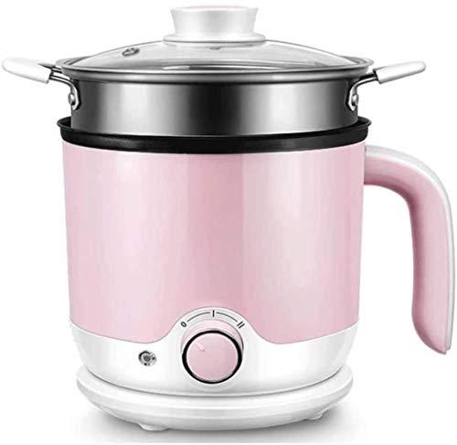 HZYD Cuisinière électrique multi-fonction Cooki de Split automatiquesMachines Cuisinière électrique Dortoir Mini nouilles instantanées Petit Hot Pot (Couleur: Vert) (Couleur: Rose), Couleur: Rose