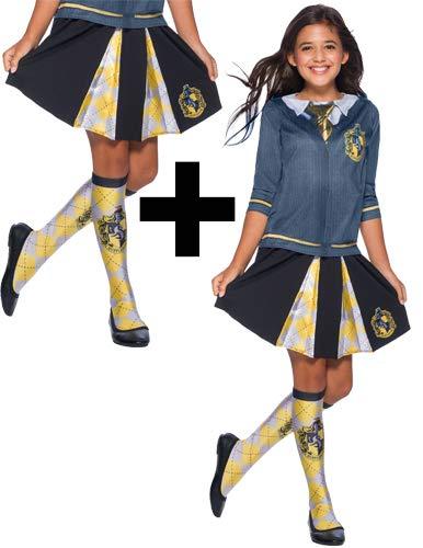 MFD Hufflepuff Top + Falda + Calcetines para niñas Disfraz de ...