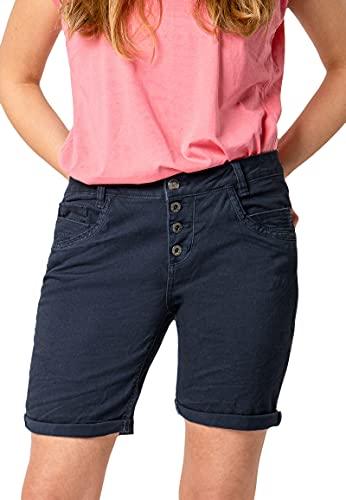 Urban Surface Urban Surface Damen Stoff Bermuda Shorts aus Stretch-Twill Dark-Blue S