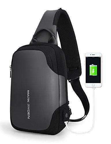 Mark Ryden - Bolso bandolera para hombre, impermeable, para viaje, para iPad de 9,7 pulgadas, Gris, One_Size