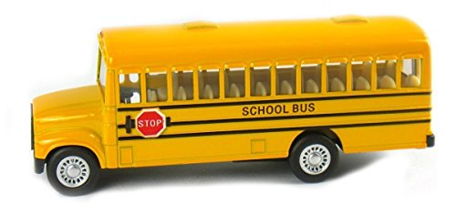 New 5' KINSMART KINSFUN DISPLAY - YELLOW SCHOOL BUS Diecast Model Car By KINSMART