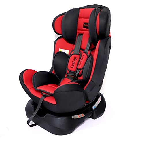 Luvlap Galaxy Convertible Car Seat for Baby & Kids from 0 Months to 7 Years (Red)