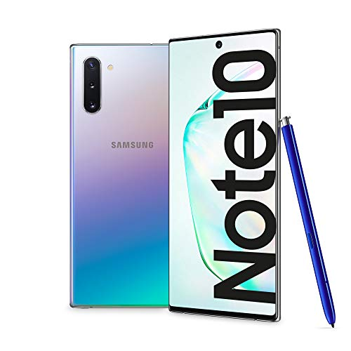 "Samsung Galaxy Note10 Smartphone, Display 6.3"" Dynamic AMOLED, 256 GB Espandibili, RAM 8 GB, Batteria 3.500 mAh, 4G, Dual SIM, Android 9 Pie, [Versione Italiana], Aura Glow"
