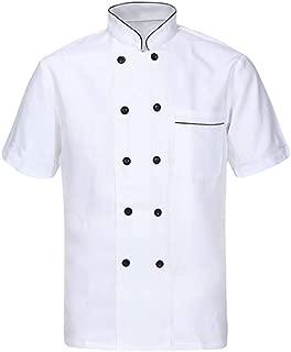 Unisex Hotel/Kitchen Chef Jacket Uniform Long Short Sleeved White Chef Vest Coat CFM0001