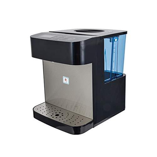 Dispensadores de agua caliente De Escritorio para El Hogar Protección del Medio Ambiente Dispensador De Agua De Gran Capacidad (Color : Black, Size : 26 * 31 * 31cm)