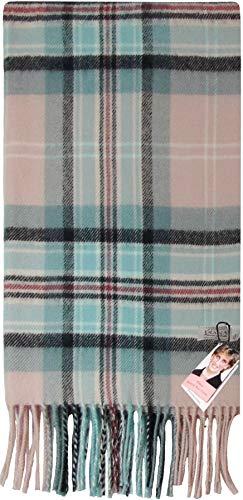I Luv Ltd Écharpe en laine brossée de luxe Diana Rose Tartan Plaid