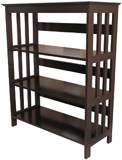 ORE International 3 Tier Bookshelves - Espresso