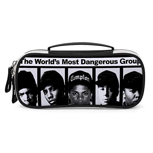 N.W.A Ice Cube MC Ren DJ Yella Dr. Dre ペンケース 手提げ付き化妆包 大容量 スシンプル道具収納袋 機能的 化粧品袋,収納小物入れ 化粧品キュービックス ペンケース ラウンドジップ ボックス 便利 学生用 社会人用