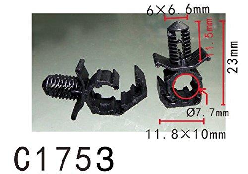 Autobahn88 Moteur Bay Rod Wire Câble Loom Routing Clip, Modell PF-C1753 (Paquet de 20)