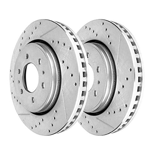 AutoShack PR64155DSZPR Pair of 2 Front Driver and Passenger Side Drilled and Slotted Disc Brake Rotors Replacement for 2010-2019 Ford F-150 2007-2018 2019 2020 Expedition 2007-2019 Lincoln Navigator