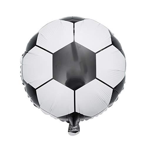 BESTOYARD 18 Zoll Fußball Ballon Aluminiumfolie Fußball Luftballons Dekoration für Party Supplies 10 Stücke
