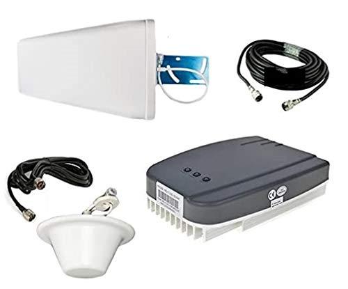 GSM + EGSM Repeater Verstärker Handy Signalverstärker für D-Netz und E-Netz - Telefonie Verstärkung (bis zu 1200 m²) T-Mobile D1 / Vodafone D2 / E-Netz / O2 + Außen- und Innenantenne + Montagezubehör