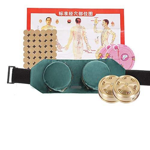 AntiGnor Green Velvet Bag Smokeless Moxibustion Box Chinese Moxa Sticks Burner Acupuncture Meridian Heating Therapy Warm Pain Relief (Color : Yellow)
