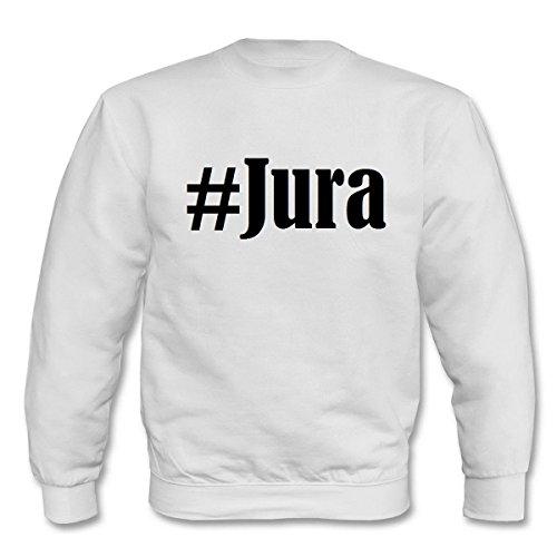 Reifen-Markt Sweatshirt Damen #Jura Größe XS Farbe Weiss Druck Schwarz