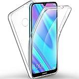COPHONE - Funda para Huawei Y7 2019 / Y7 Pro 2019 100%Transparente 360 Grados Protección Completa Delantera Suave de silicona+ Trasera rígida. Funda táctil 360 Grados antigolpes para Huawei Y7 2019