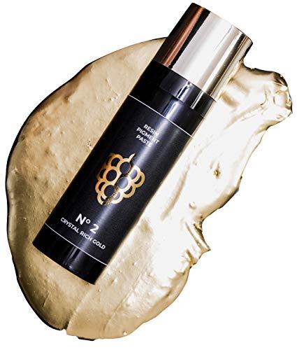 COLORBERRY Pigmentpaste - Ultra hoch pigmentierte Resin Art Paste zum Einfärben deines Kunstharzes/Epoxidharzes in der 30 ml Flasche (Crystal Rich Gold)