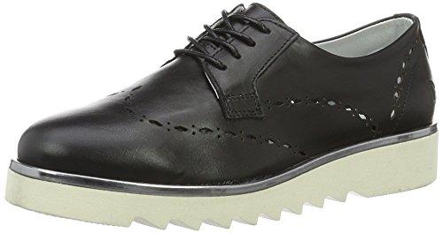 Daniel Hechter HJ74091, Chaussures Derby Femme - Noir - Noir (Schwarz 100), 38 EU