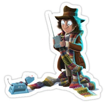 Lancy's Artwork Doctor Who - 4th Doctor and K9-4x4 - Doctor Who Dr Who Sticker
