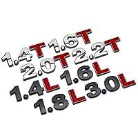 TAYDMEO 1.4 1.5 1.6 1.8 2.0 2.2 2.4 2.5 2.8 3.0 TL 3D金属ロゴ車のステッカーリアトランクエンブレムテールバッジステッカー