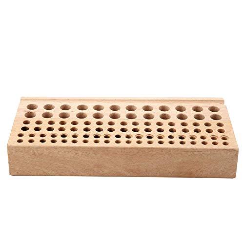 M I A Organizador de 98 agujeros, herramienta de artesanía de cuero, estante de madera, soporte para herramientas de modelado de manualidades, pinceles de pintura