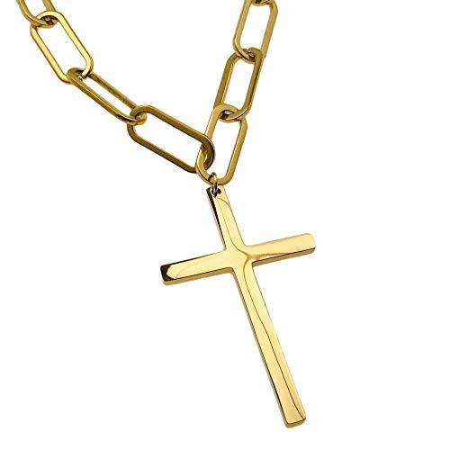 Collar famoso AISADI 20090713/14 para regalo, cruz chapada en oro antialérgico de acero inoxidable quirúrgico BLUEBERRY TTM XUPING MOONRIVER STAINLESS STALESS SUNLIGHT