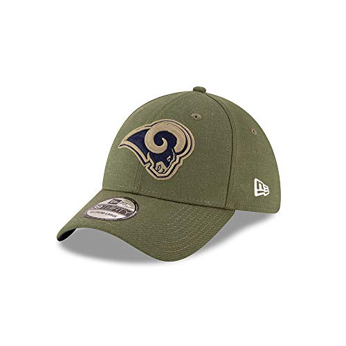 New Era Los Angeles Rams 39thirty Stretch Cap On Field 2018 Salute to Service Green - M - L