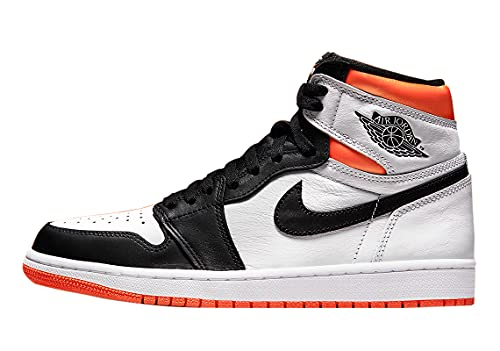 Air Jordan 1 Retro Alto OG Electro Naranja Zapato Hombre Blanco/Electro Naranja-Negro 555088-180 (Numeric_8_Point_5)