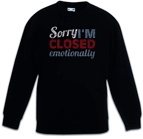 Urban Backwoods Sorry I'm Closed Emotionally Kinderen Jongens Meisjes Sweatshirt Pullover Trui Schwarz