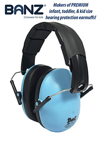 BANZ Kids Headphones – Hearing Protection Earmuffs For Children – ADJUSTABLE headband to fit all ages – Protect Kids Ears – Block Noise – Fireworks – Sporting Events – Concerts – Movies (Blue)