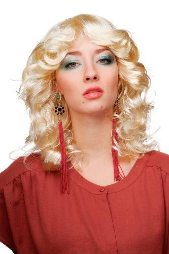 Wig Me Up - Parrucca Da Donna, Carnevale, Capelli Voluminosi Biondo E Biondo Chiaro, Riga In Mezzo, Angelo 61842-P88