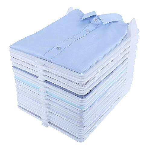 KIKIGO Wardrobe folding board,Anti-wrinkle Clothes Storage Holders, T-shirt shirt wardrobe wrinkle-resistant sweater, folding clothes board,Closet Organizer, Anti-Wrinkle Anti-Moisture(15-Pack)