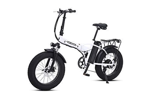 VOZCVOX Pieghevole Bici Elettrica,20 Pollice Motore 500W Batteria al Litio 48V15AH, City Bicicletta Elettrica per Adulto Unisex