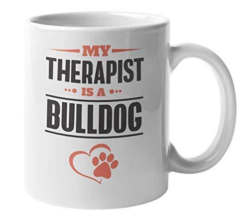 N\A Taza de Regalo y coleccionables de café y té de Terapeuta de Bulldog inglés o francés