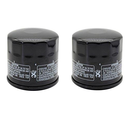 cyleto Filtro de aceite para SV650 1999 - 2009/SV650S 1999 - 2010 (Pack de 2)