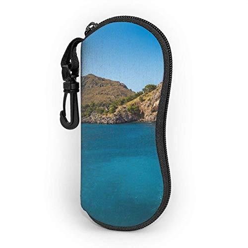 AetherTime Arch In Mallorca Spain Estuche blando para gafas de sol Estuche de anteojos For Mujer Hombre Ultra Light Neoprene Zipper Estuche para anteojos