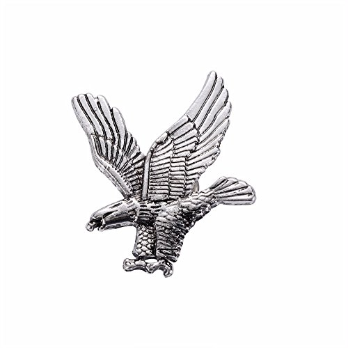 Patch Nation Goldener Adler zu Jagen Badge Pin Pins Anstecker Cosplay Brosche (Silber)