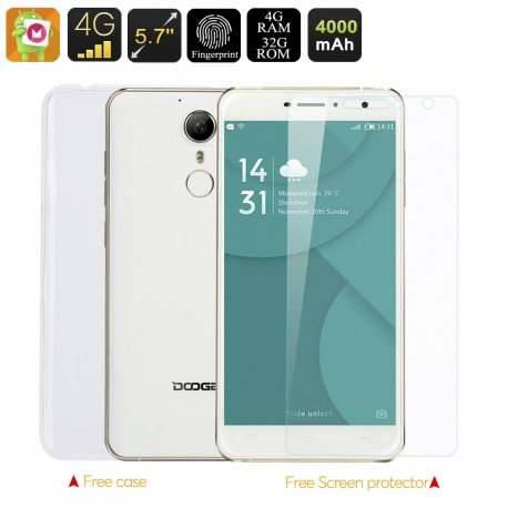 Doogee F7 Pro Smartphone - Helio X 20 Deca Core CPU, 4GB de RAM, Pantalla de 5,7 Pulgadas FHD, 6.0 Android, Fingerprint Scanner: Amazon.es: Electrónica