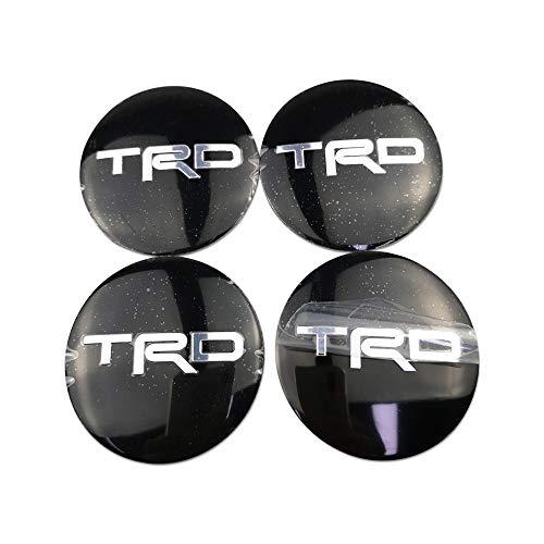LIUSHI Tapacubos 4 unids para TRD Wheel Center Insignia para Toyota Hilux Prado Corolla Camry Tacoma Yaris RAV4 Tundra Alion Hub Decoración del automóvil Cubierta Central (Color Name : A)