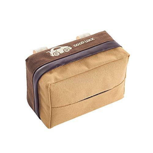 Funie Taschentuchbox mit Sonnenblende, zum Aufhängen an der Rückseite von Taschentüchern, Servietten, Papierhalter – Schwarz OneSize coffee
