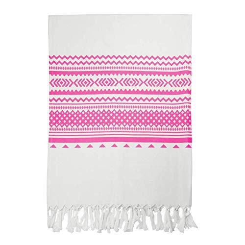 Desconocido Pareo Toalla sin Rizo Fabricado en 100% algodón con Estampado Estilo étnico