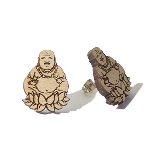 GoodWood NYC Fortune Buddha Studs Natural