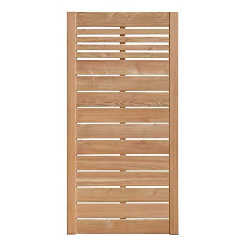 Weidenprofi Sichtschutz aus Lärche, Holz Lamellenzaun, Gartenzaun aus Lärchenholz, Größe (BxH): 90 x 180 cm