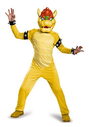 Nintendo Super Mario Bowser Kinder Deluxe Kostüme Jungen Videospiele Charakter Outfits - Mittel