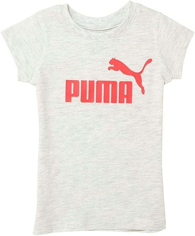 PUMA Toddler Girls Screen Print Jersey T-Shirt Top - Beige
