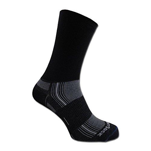 Wrightsock Socken Silver Stride doppel-lagig schwarz Größe L